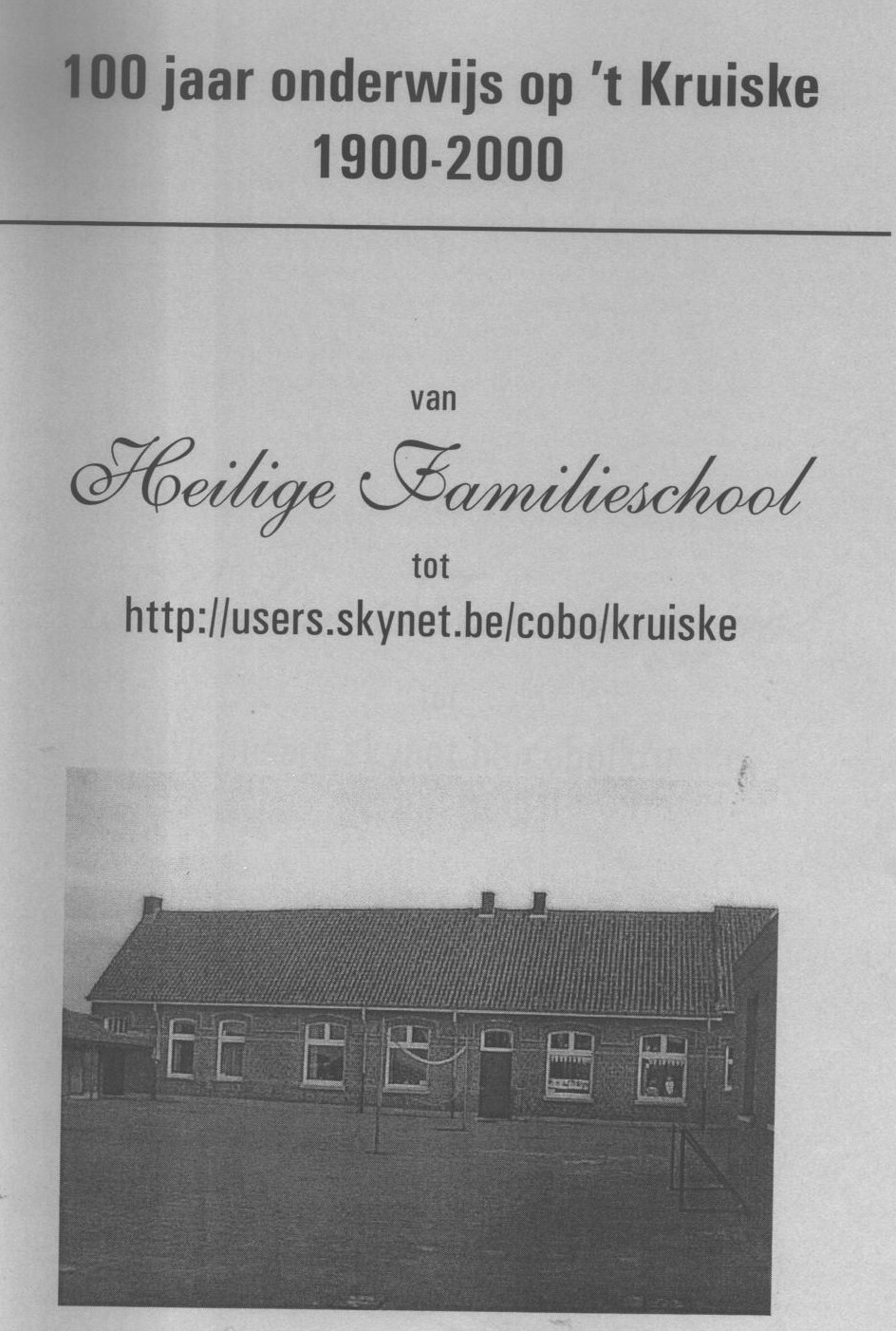 Omslag Kruiskeschool