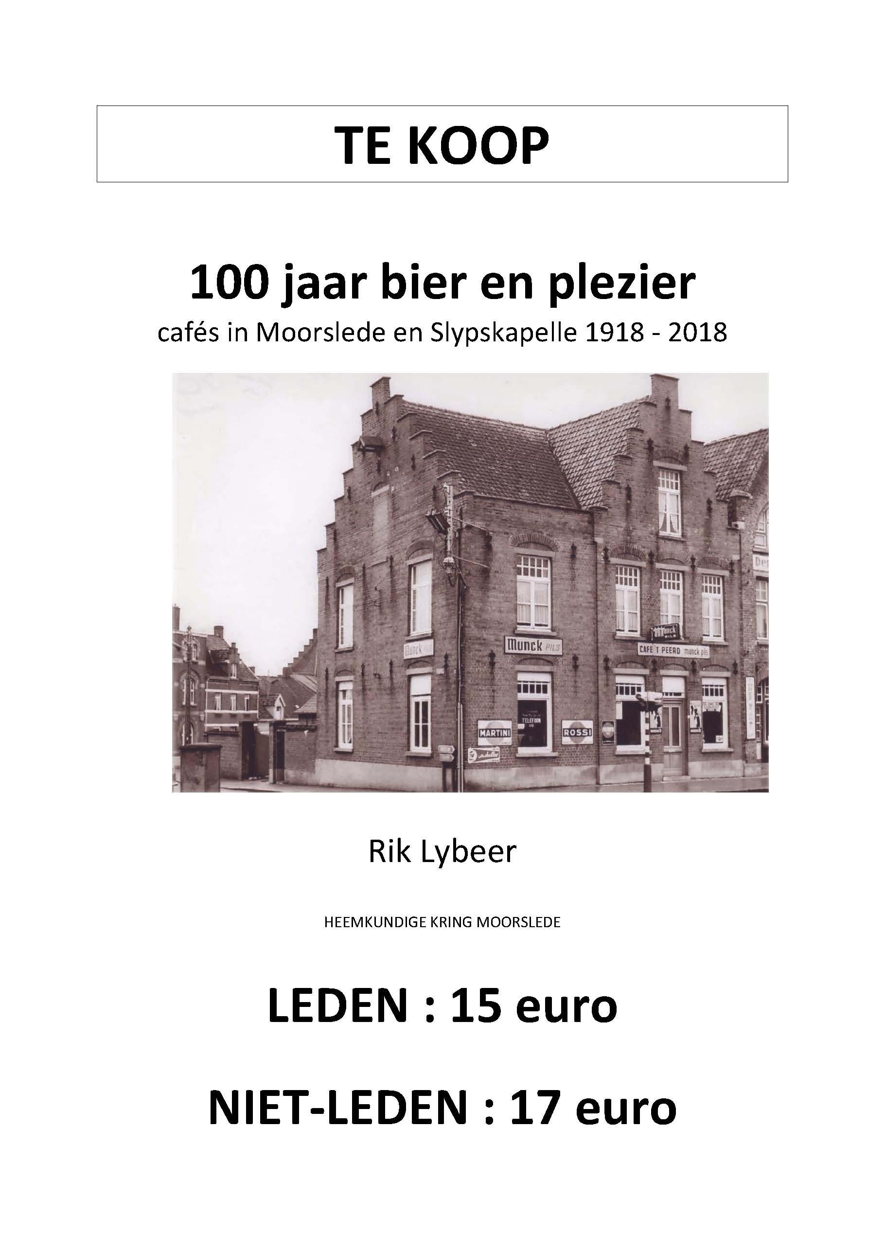 cafés in Moorslede en Slypskapelle 1918-2018